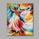 Hand-Painted Abstract  Tango  dancing Modern Classic One Panel Canvas Oil Painting For Home Decora