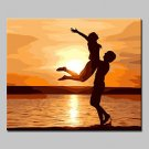 Hand Painted Lovers Oil Paintings On Canvas Wall Art Pictures For Home Decoration With Stretched F