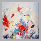 IARTS Abstract Mixed Red Floral Oil Painting Canvas Wall Art For Home Decor Stretchered Ready to H