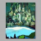 IARTS Oil Painting Modern Green Abstract Art Acrylic Canvas Wall Art For Home Decoration