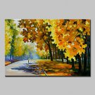Hand Painted Knife Landscape Oil Painting On Canvas Modern Abstract Wall Art Picture For Home Deco