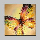 Lager Hand Painted Modern Butterfly Oil Painting On Canvas Wall Art Picture For Home Whit Frame Re