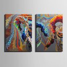 E-HOME Oil painting Modern Abstract colored Horse Series 4 Pure Hand Draw Frameless Decorative Pai