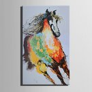 E-HOME Oil painting Modern The Color Of The Running Horse Pure Hand Draw Frameless Decorative Pain