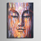 E-HOME Oil painting Modern Mottled Buddha Pure Hand Draw Frameless Decorative Painting