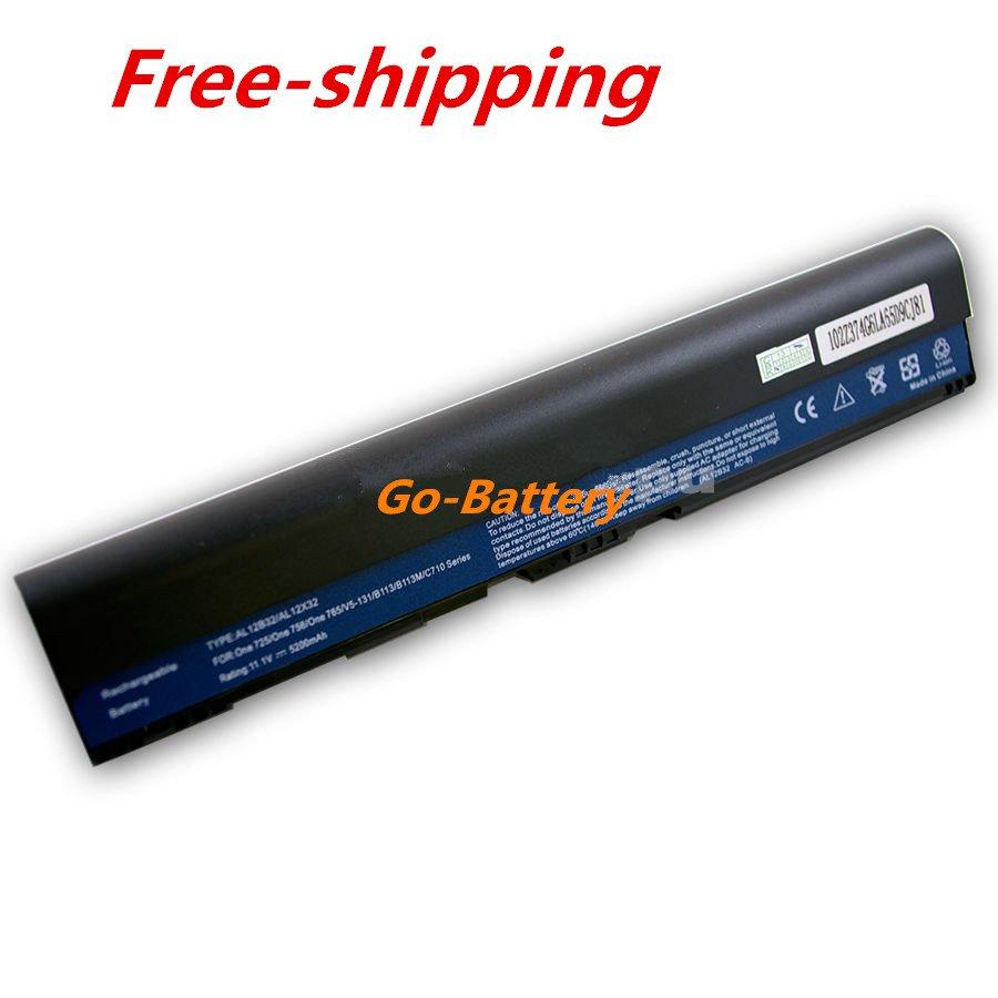 New Laptop Battery for Acer C7 CHROMEBOOK C710 CHROMEBOOK AL12B32 5200mah 6 Cell