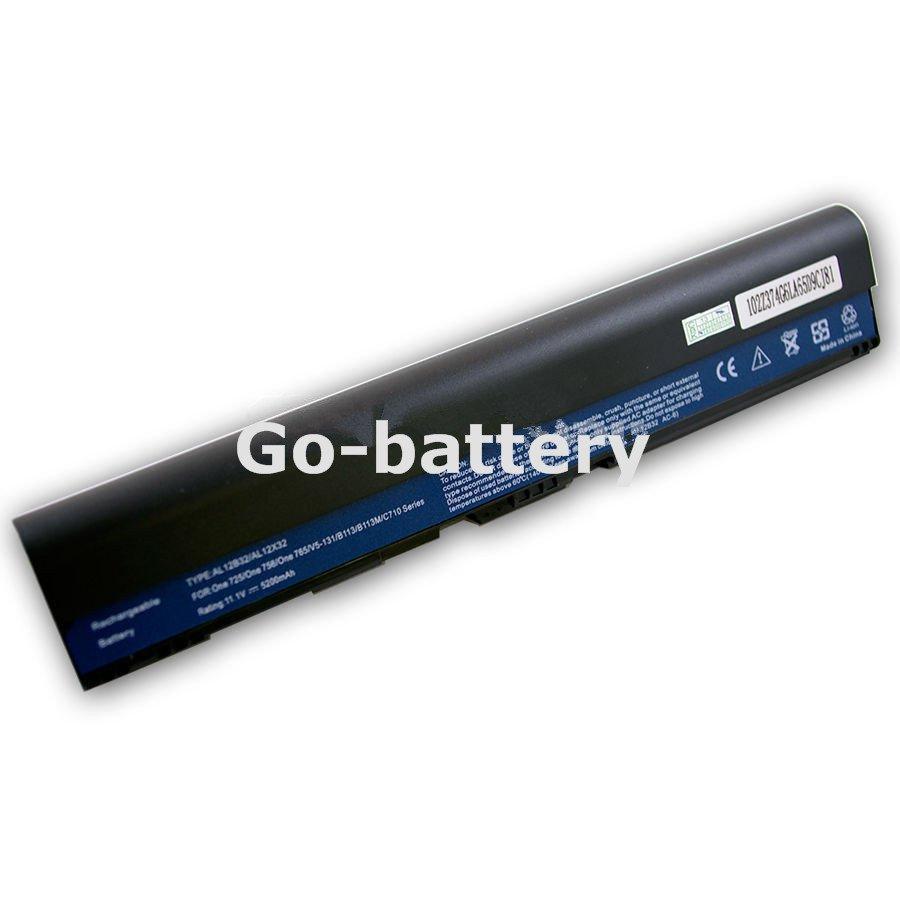 6 Cell Battery for Acer Aspire one 725 756 AO756-2623 AO756-2808 AL12A31 AL12B31