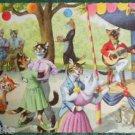 ANTHROPORMORPHIC DRESSED CAT POSTCARD-MAINZER HARTUNG-OUTSIDE DANCE 4863 Belgium