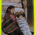 Navajo Mother Child Cradleboard Flagstaff, AZ. American Indian Vintage Postcard