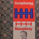"Humphrey for President ""Some men talk of change""  Vintage 60s Match Book Cover"