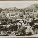 NEVADA CITY, CA-TOWNVIEW COURT HOUSE FROM HILLS-ANTIQUE RPPC REAL PHOTO POSTCARD
