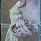 FRENCH LADY PRE 1920-Vive Saint Nicolas-ANTIQUE VINTAGE RPPC PHOTO POSTCARD 18