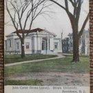 John Carter Brown Library Rhode Island-Antique UNDIVIDED 1913 Building Postcard