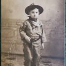 YOUNG BOY COWBOY SUIT-PORTLAND STUDIO, OREGON-ANTIQUE 1914 RPPC PHOTO POSTCARD