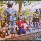 ANTHROPORMORPHIC DRESSED CAT POSTCARD-MAINZER HARTUNG-KIDS FISHIN POLICEMAN 4925