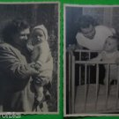 GERMAN MOTHER & CHILD BABY-LOT of 2 ANTIQUE VINTAGE REAL PHOTO POSTCARD  1940's