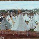 Indian Village Pendleton Round-Up Oregon-Vintage 1959's Tepees Postcard