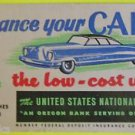 Advertising Blotter United States National Bank Serving Oregon Finance your Car