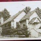 GRACE LUTHERAN PINE NEEDLE CHURCH-McGREGOR, MINNESOTA 1954 RPPC PHOTO CARD