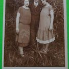 German Young Ladies in 1918 Fashion Dresses-Antique Vintage Real Photo Postcard