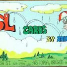 QSL CARDS BY RAINDROP-CH 19-ASTORIA, ORE-VTG CB AD SALESMANS SAMPLE $45 a 1,000