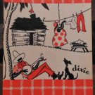 """dixie""-Country Life-BLACK AMERICANA AFRICAN AMERICAN-Vintage SWAP PLAYING CARD"