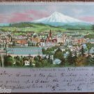 Portland, Oregon Mt. Hood Silver Gilt-Vintage Antique 1905 UNDIVIDED Postcard