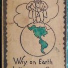 """Why on EARTH don't you Write"" ANTIQUE Pittsburg, PA 1906 LEATHER POSTCARD"