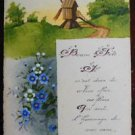 WINDMILL SCENE FRENCH EARLY 1900's VTG ANTIQUE HANDMADE HAND PAINTED POSTCARD