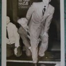 RICHARD WIDMARK-FOOT in CEMENT HOLLYWOOD SIDE WALK-VINTAGE RPPC PHOTO POSTCARD