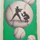 Silhouette Batters Up Catcher Baseball Balls - Vintage 1940's Swap Playing Card
