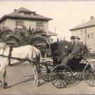 MEN ON HORSE DRAWN CART SOUTHERN CALIF-ANTIQUE VINTAGE RPPC REAL PHOTO POSTCARD