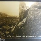 Rock of Terror-Mt Mansfield, Stowe, Vermont-RPPC Real Photo Postcard 1913-1930