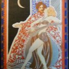 """PERSIA"" ROMANTIC COUPLE VINTAGE ENGLISH  NAMED SINGLE SWAP PLAYING CARD"