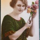 FRENCH FANTASY LADY-ANNIVERSARY-HAND TINT-ANTIQUE VINTAGE RPPC PHOTO POSTCARD 6
