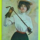 """Autumn Girl"" Lg Hat Gloves Riding Crop-c. 1907-A/S S.S. Porter-Vintage Postcard"