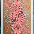 SEAHORSE P & O ORIENT LINES-SHIPPING ADVERTISING-VINTAGE SWAP PLAYING CARD