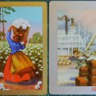 LADY HAULS COTTON & LOADING DOCK AFRICAN BLACK AMERICANA ART VINTAGE SWAP CARD