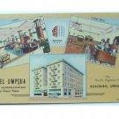 HOTEL UMPQUA-ROSEBURG, OREGON-VINTAGE DECO MULTIVIEW POSTCARD-CURTEICH CHICAGO