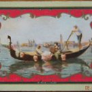 """GALA DAYS"" GONDOLA LADIES UMBRELLA -1 ANTIQUE USWN WIDE NAMED SWAP PLAYING CARD"