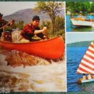 Old Town CANOES & BOATS-Old Town Canoe CO.-Old Town, Maine 1960 AD Postcard