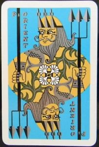 NEPTUNE P & O ORIENT LINES-SHIPPING ADVERTISING-1940 VINTAGE SWAP PLAYING CARD