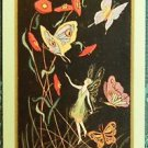 """TITANIA"" - BUTTERFLIES & FAIRY GIRL VINTAGE USNN NARROW NAMED SWAP PLAYING CARD"