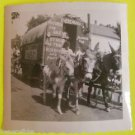 Parade-Donkey Pulled Wagon Advertising Pictures for Sale Vintage 1950 Snap Shot
