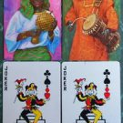 JOKER JESTER SITS-AFRICAN MUSICIAN NATIVE DRESS RETRO VINTAGE SWAP PLAYING CARDS