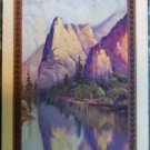 """SENTINEL ROCK"" LANDSCAPE-ANTIQUE VINTAGE NARROW NAMED SWAP PLAYING CARD SINGLE"