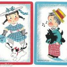 SUSIE-Q & BOBBIE-Q with SCOTTY DOGS-VINTAGE c. NORCROSS NY-SWAP PLAYING CARDS