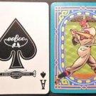 Ace of Spades eeBoo CO. 2 Birds-Baseball Batter-Mod Wide NAMED Swap Playing Card