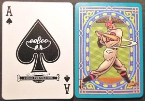 Ace of Spades eeBoo CO. 2 Birds-Baseball Batter-Mod Wide NAMED Swap Playing Card