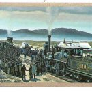 "UNION PACIFIC RR RAILROAD TRAIN NAMED ""DRIVING of SPIKE""-VINT SWAP PLAYING CARD"